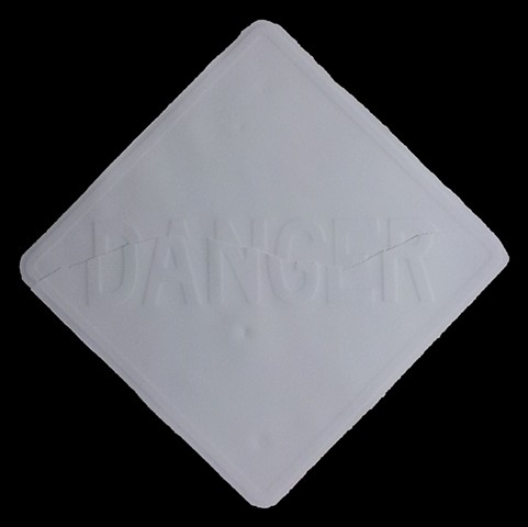 OBLIQUE SLIP DANGER SIGN