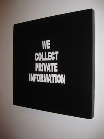 WE COLLECT PRIVATE INFORMATION MAX HELLER X ART