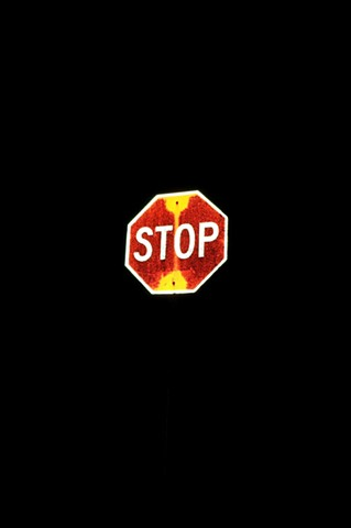 STOP SIGN MAX HELLER ART X PHOTO