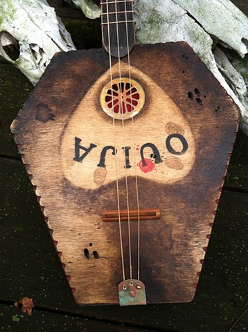 Coffin Ouija Board guitar