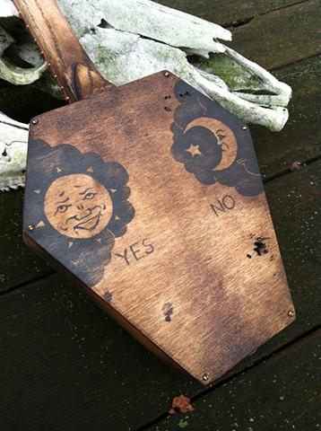 Coffin Ouija Board guitar