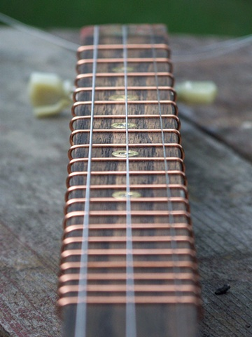 Bullet guitar - wire frets