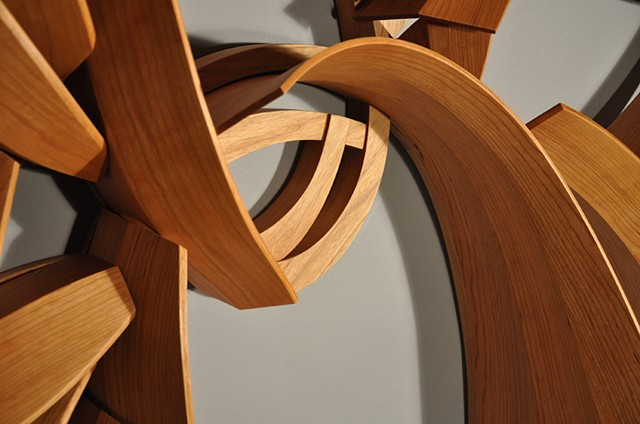 In and Down and Up and Out:  Detail of framework and bent-laminations