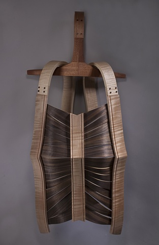 Sculpture, breast plate, dress form, armor
