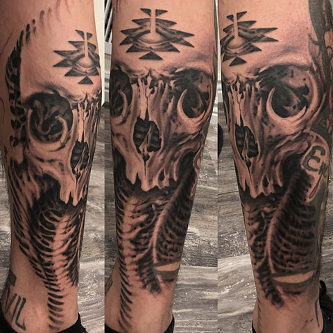 bio organic black and grey tattoo oak adams painted temple salt lake city slc