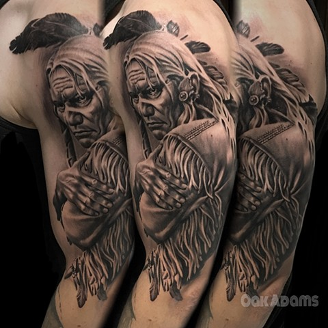 bio organic black and grey tattoo oak adams painted temple salt lake city slc native american