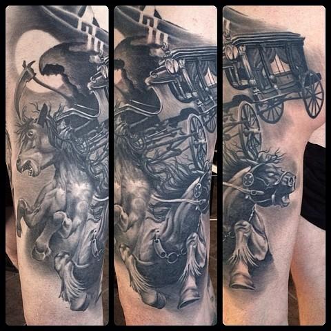 bio organic black and grey tattoo oak adams painted temple salt lake city slc