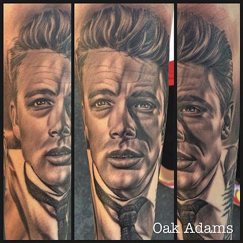 bio organic black and grey tattoo oak adams painted temple salt lake city slc james dean