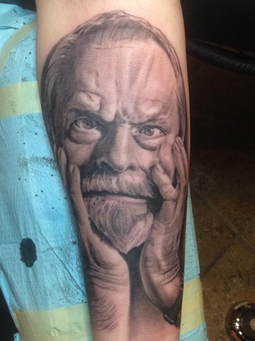 bio organic black and grey tattoo oak adams painted temple salt lake city slc terry gilliam
