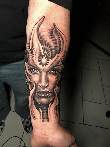 Bio Organic Girl Tattoo