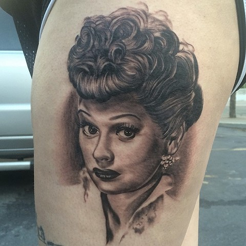 bio organic black and grey tattoo oak adams painted temple salt lake city slc lucille ball