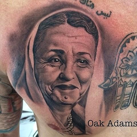 bio organic black and grey tattoo oak adams painted temple salt lake city slc portrait