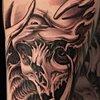 Bio Organic Skull Tattoo