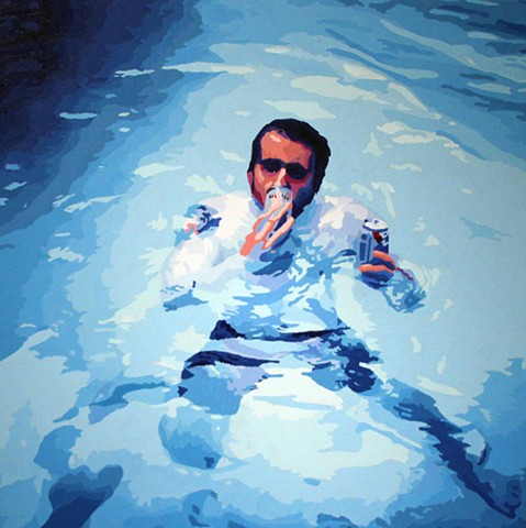 A beer in the hand is worth 2 in the pool
