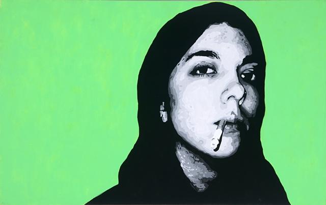 """Amanda Acrylic on canvas 30"""" x 48"""" 2006  AVAILABLE"""