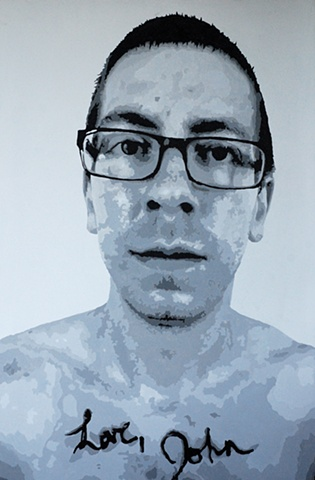 "Love, John Acrylic on canvas 48"" x 72"" 2010 SOLD"