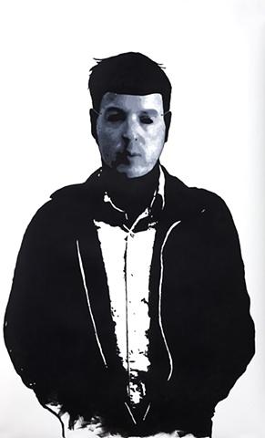 """Doug Acrylic on Yupo  37"""" x 60"""" 2009  SOLD"""