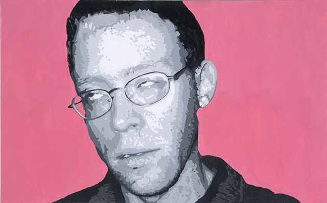 "John F Acrylic on canvas 30"" x 48"" 2005  SOLD"