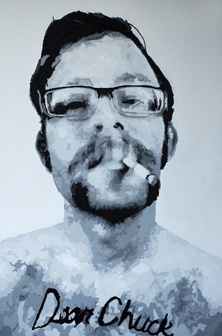 """Dear Chuck Acrylic on canvas 48"""" x 72"""" 2010 SOLD"""