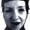 """Rachel Acrylic on Yupo  37"""" x 60"""" 2009  AVAILABLE"""