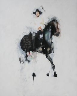 black horse 36x24 available through Carteret Contemporary