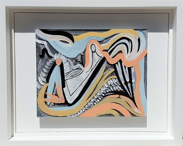 acrylic painting on plexiglass