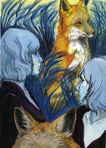 Flora and Fauna Zine-Red Fox/Foxtail Barley