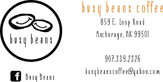 Busy Beans Coffee | stamp card/business card