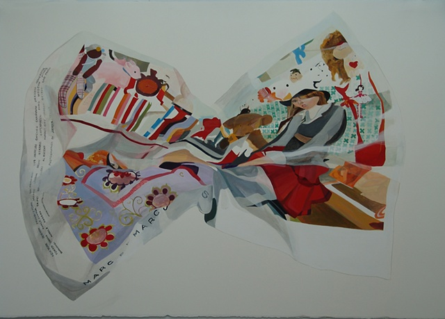 marc by marc jacobs juergen teller nora mulheren painting crumple fashion advertisement bow