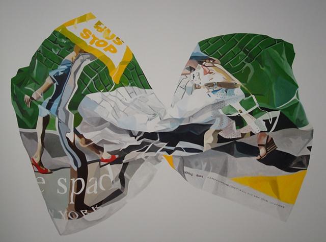kate spade bow ad campaign painting nora mulheren gavlak fashion representation