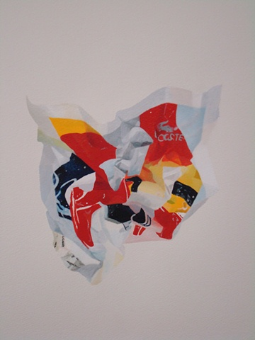 lacoste crumple nora mulheren painting advertisement