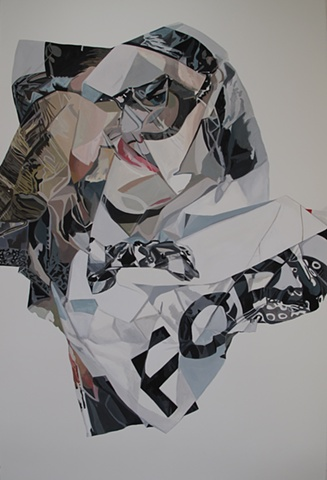 tom ford eyewear ad campaign painting crumple nora mulheren