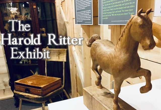 The Harold Ritter Exhibit (2018), permanently on view at Elkhorn Valley Museum