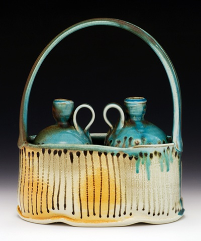 Bottle and Basket Set