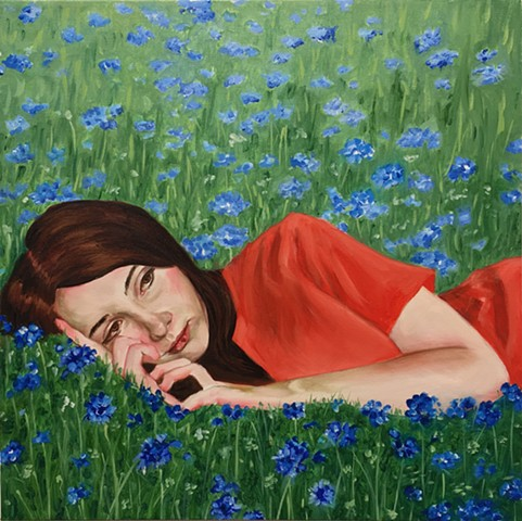 Rene Lynch, Cornflowers, Spring can really hang you up the most