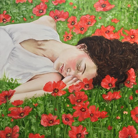 Rene Lynch, Poppies, Spring can really hang you up the most