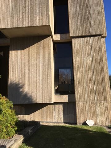 Installation photo:  Valentines for Brutalism, Regenstein Library, University of Chicago Architect: Walter Netsch