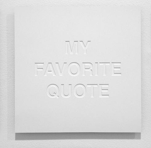 My Favorite Quote (Memorial)