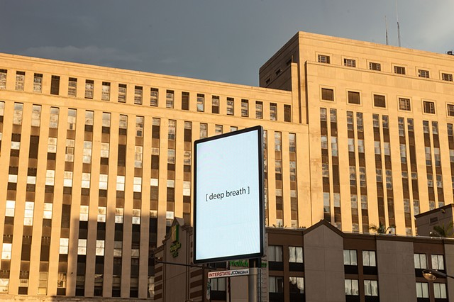 Untitled (deep breath) 2016 electronic billboard commission from The City of Chicago and ArtExpo 2016