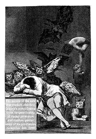 Sleep of Reason (after Goya)