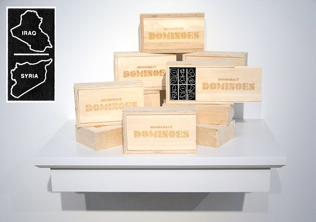 Democracy Dominoes, display