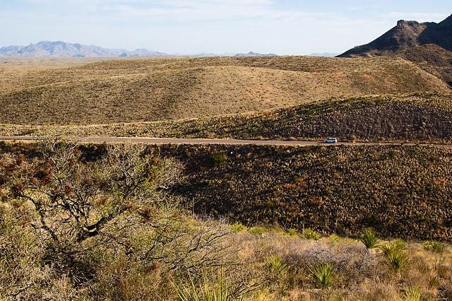 road to santa elena, big bend, texas