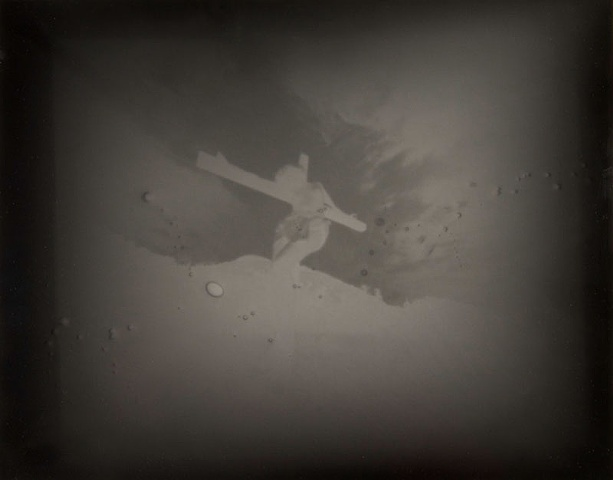 "Crucified Woman 4 1990-2004 pinhole photograph archival pigment print 13""x20"""