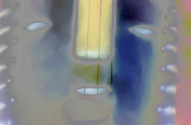 "Tarahumara Fiddle 2011 zone plate photograph archival pigment print 20""x13"""