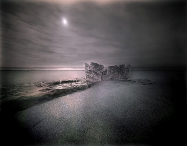 "Seascape 2, Pawleys Island, South Carolina 1987 pinhole photograph archival pigment print 13""x20"""