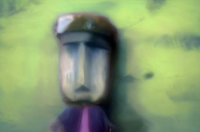 "Wooden Healing Statue, San Blas Islands, Panama 2011 zone plate photograph archival pigment print 20""x13"""