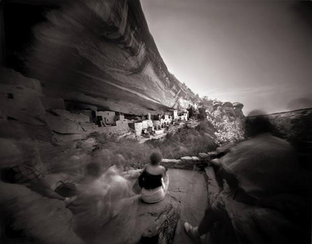 """Cliff Palace, Mesa Verde, Colorado  1987 pinhole photograph archival pigment print 13""""x20"""""""