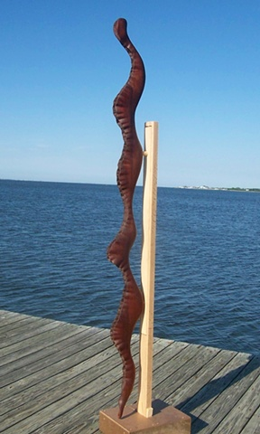 wood carving, sculpture, art, water, flow, current, seaweed, snake