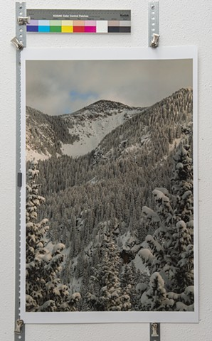 """Alpine Back Country Sky Paths, Dropping the NW Bowl into Nambe Lake, Santa Fe National Forest"""
