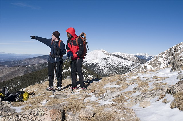 """Bernard & Andy, Deception Peak, Santa Fe National Forest"""